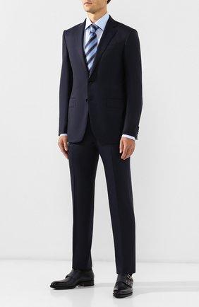 Мужской шерстяной костюм ERMENEGILDO ZEGNA темно-синего цвета, арт. 622565/221225 | Фото 1