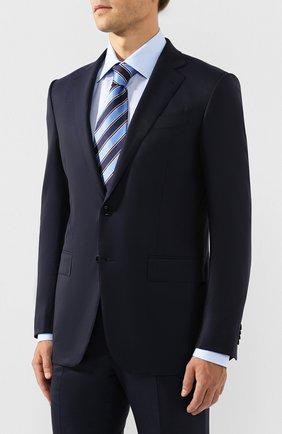 Мужской шерстяной костюм ERMENEGILDO ZEGNA темно-синего цвета, арт. 622565/221225 | Фото 2