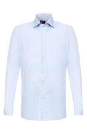 Мужская хлопковая сорочка ERMENEGILDO ZEGNA голубого цвета, арт. 601504/9MS0BR | Фото 1