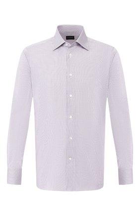 Мужская хлопковая сорочка ERMENEGILDO ZEGNA фиолетового цвета, арт. 601308/9MS0PA | Фото 1