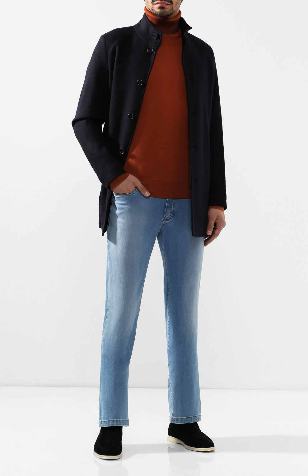 Мужские джинсы BILLIONAIRE голубого цвета, арт. I19C MDT1630 BTE001N   Фото 2