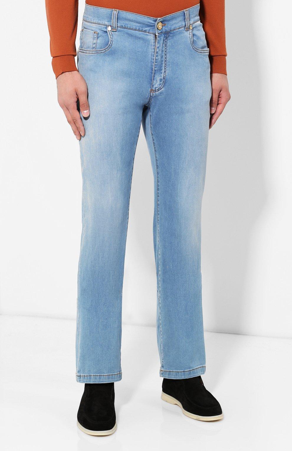 Мужские джинсы BILLIONAIRE голубого цвета, арт. I19C MDT1630 BTE001N   Фото 3