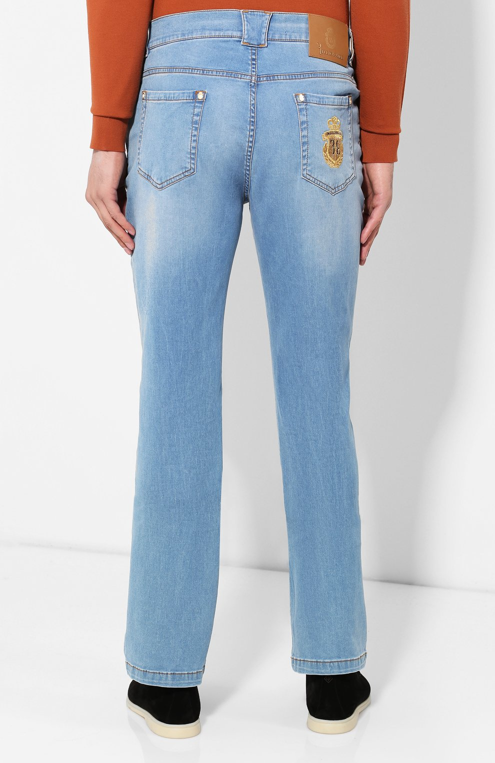 Мужские джинсы BILLIONAIRE голубого цвета, арт. I19C MDT1630 BTE001N   Фото 4