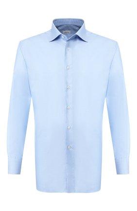 Мужская хлопковая сорочка BRIONI голубого цвета, арт. RCLU2R/PZ023 | Фото 1