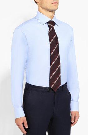 Мужская хлопковая сорочка BRIONI голубого цвета, арт. RCLU2R/PZ023   Фото 4