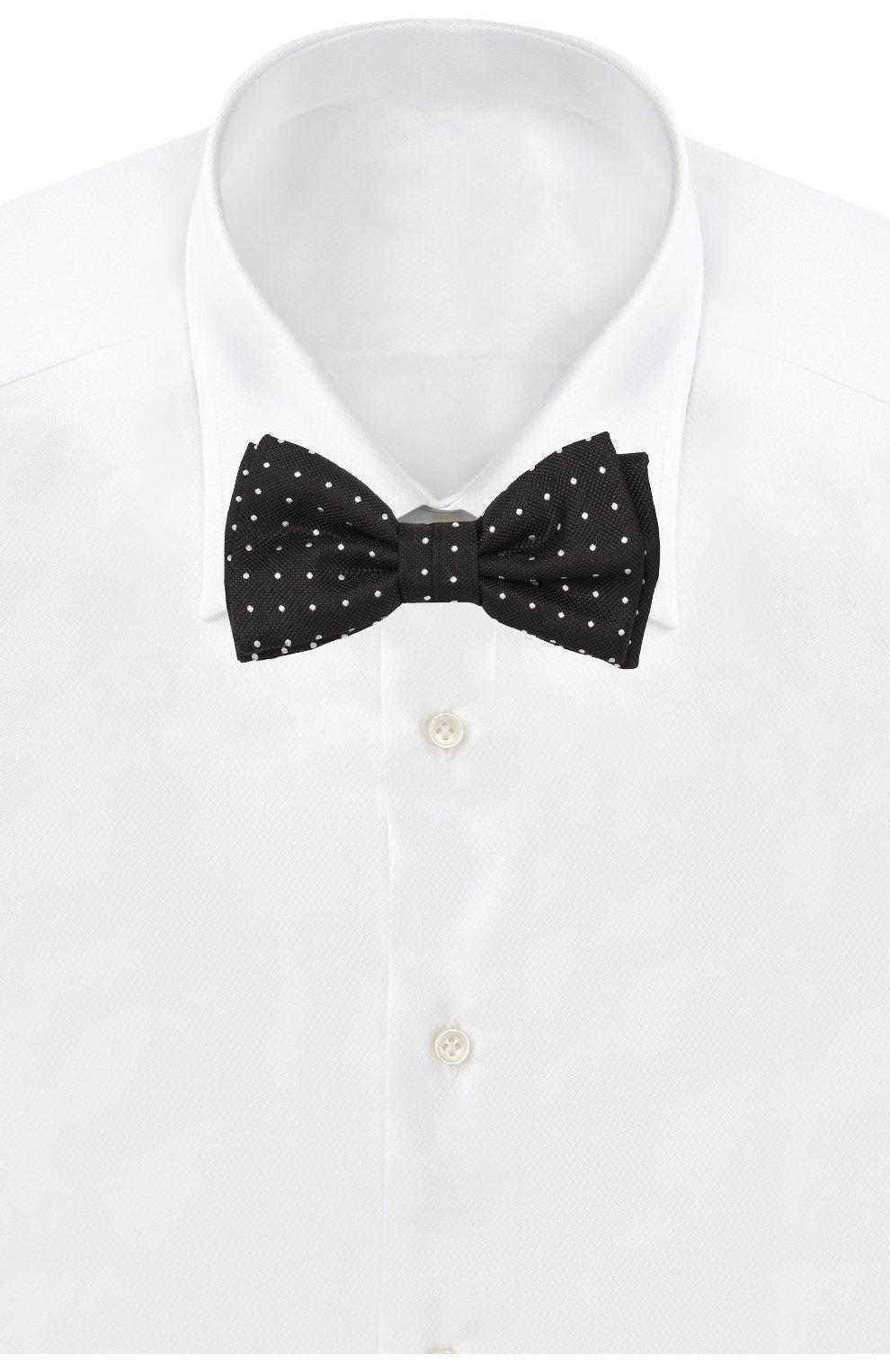 Мужской шелковый галстук-бабочка BOSS черного цвета, арт. 50417362 | Фото 2