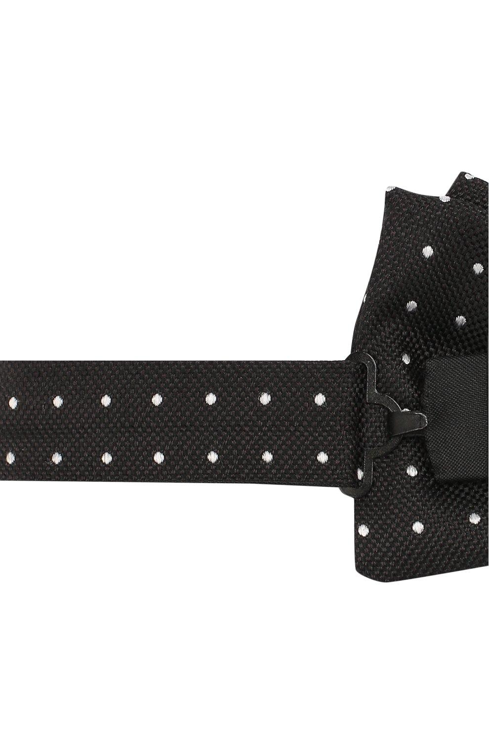 Мужской шелковый галстук-бабочка BOSS черного цвета, арт. 50417362 | Фото 3