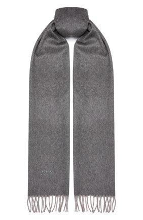 Мужской кашемировый шарф BOSS бежевого цвета, арт. 50415017   Фото 1