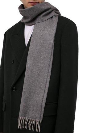 Мужской кашемировый шарф BOSS бежевого цвета, арт. 50415017   Фото 2