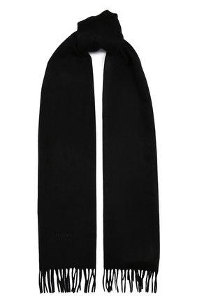 Мужской кашемировый шарф BOSS черного цвета, арт. 50415017 | Фото 1