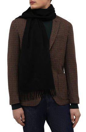 Мужской кашемировый шарф BOSS черного цвета, арт. 50415017 | Фото 2