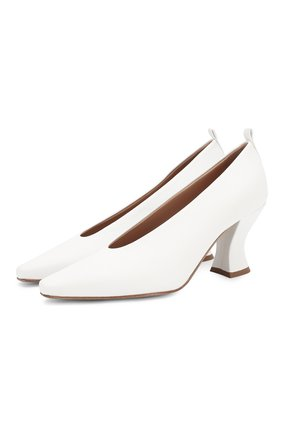 Женская кожаные туфли BOTTEGA VENETA белого цвета, арт. 574635/VBPA0 | Фото 1