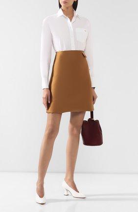 Женская кожаные туфли BOTTEGA VENETA белого цвета, арт. 574635/VBPA0 | Фото 2