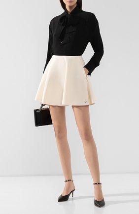 Женская кожаные туфли valentino garavani rockstud hype VALENTINO черного цвета, арт. SW2S0N49/VXS   Фото 2