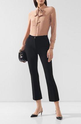 Женская кожаные туфли valentino garavani rockstud VALENTINO черного цвета, арт. SW2S0H14/V0D   Фото 2