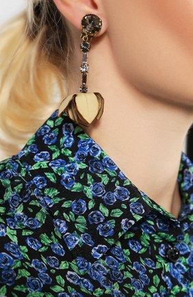 Женские серьги-клипсы MARNI бежевого цвета, арт. 0RMV0107A0/T2000   Фото 2