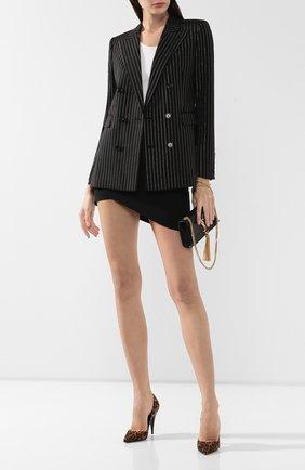 Женская замшевые туфли kiki SAINT LAURENT коричневого цвета, арт. 581695/1FL00   Фото 2