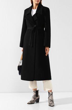 Женское шерстяное пальто MM6 черного цвета, арт. S52AA0069/S47852   Фото 2