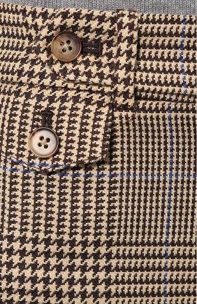 Женская юбка из смеси хлопка и льна POLO RALPH LAUREN коричневого цвета, арт. 211753186 | Фото 5
