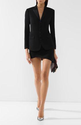 Женский шерстяной жакет SAINT LAURENT черного цвета, арт. 587582/Y512W | Фото 2
