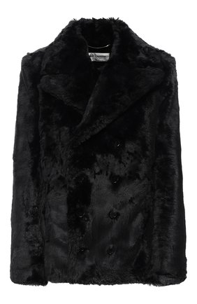 Женская шуба из экомеха SAINT LAURENT черного цвета, арт. 582714/Y279V | Фото 1