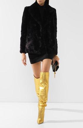 Женская шуба из экомеха SAINT LAURENT черного цвета, арт. 582714/Y279V | Фото 2
