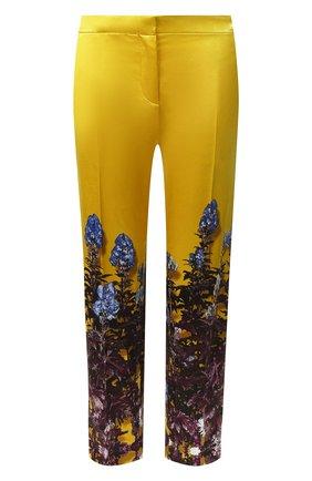 Женские брюки из смеси хлопка и вискозы DRIES VAN NOTEN желтого цвета, арт. 192-30952-8401 | Фото 1