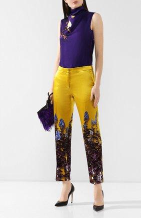 Женские брюки из смеси хлопка и вискозы DRIES VAN NOTEN желтого цвета, арт. 192-30952-8401 | Фото 2