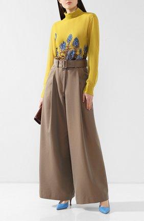 Женская блузка с принтом DRIES VAN NOTEN желтого цвета, арт. 192-30759-8409 | Фото 2