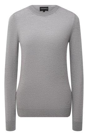 Женский шерстяной пуловер EMPORIO ARMANI серого цвета, арт. 8N2MZR/2M9DZ   Фото 1
