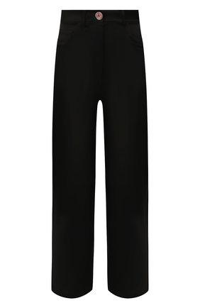 Женские брюки NANUSHKA черного цвета, арт. MARFA_BLACK_SLIP SATIN | Фото 1