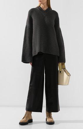 Женская свитер NANUSHKA бежевого цвета, арт. M0G_TAUPE_CASHMERE BLEND RIB   Фото 2