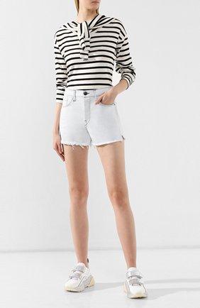 Женские джинсовые шорты 3X1 белого цвета, арт. WSXSB0952/ADELIA | Фото 2