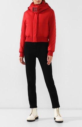 Женский утепленная куртка OFF-WHITE красного цвета, арт. 0WEA174E19A390692020 | Фото 2