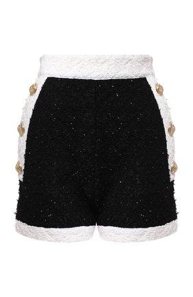 Женские шорты BALMAIN черно-белого цвета, арт. SF15040/K470 | Фото 1
