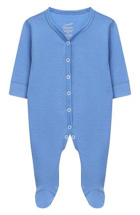 Детский шерстяной комбинезон NORVEG голубого цвета, арт. 4SUO04LRU-004 | Фото 1