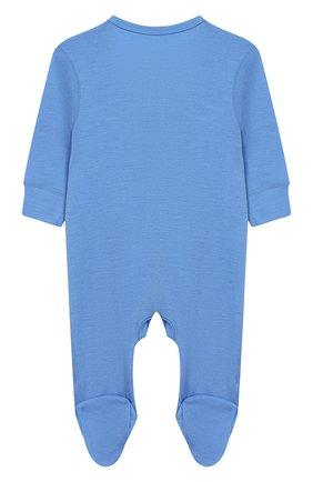 Детский шерстяной комбинезон NORVEG голубого цвета, арт. 4SUO04LRU-004 | Фото 2