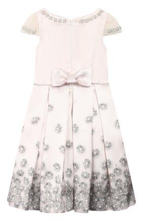 Детское платье MONNALISA розового цвета, арт. 774904 | Фото 2