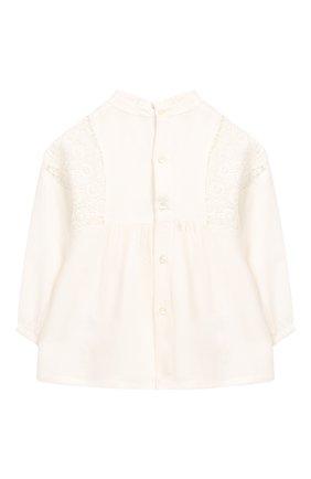 Детский блузка из вискозы и шерсти CHLOÉ белого цвета, арт. C05312 | Фото 2