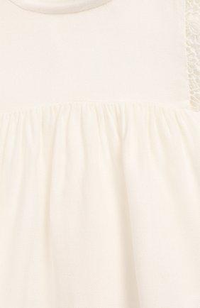 Детский блузка из вискозы и шерсти CHLOÉ белого цвета, арт. C05312 | Фото 3
