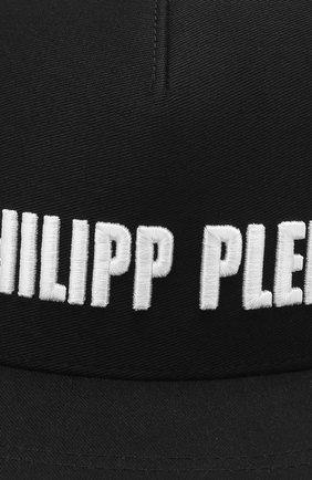 Детская хлопковая бейсболка PHILIPP PLEIN черного цвета, арт. BAC0086 | Фото 3