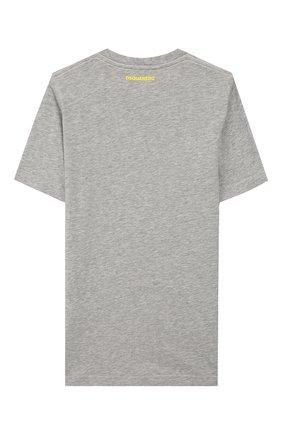 Детская хлопковая футболка DSQUARED2 серого цвета, арт. DQ03P3-D00TK | Фото 2