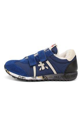 Детские кроссовки с меховой отделкой PREMIATA WILL BE синего цвета, арт. LUCY V M/0858/JUN | Фото 2