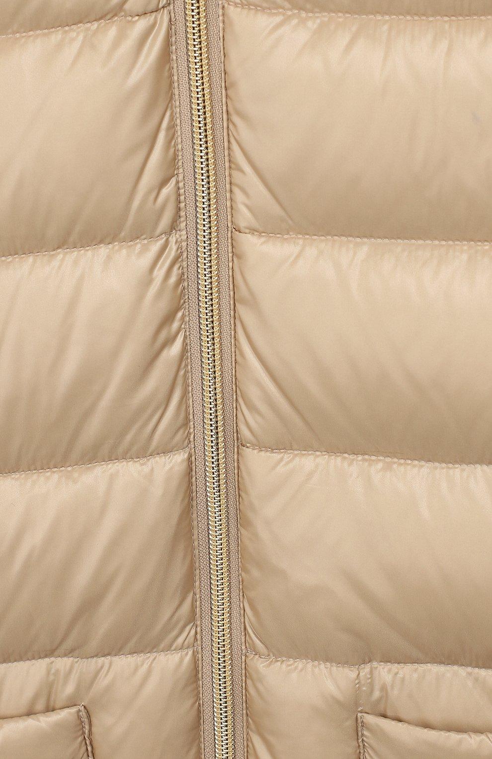 Пуховое пальто с меховой отделкой | Фото №3