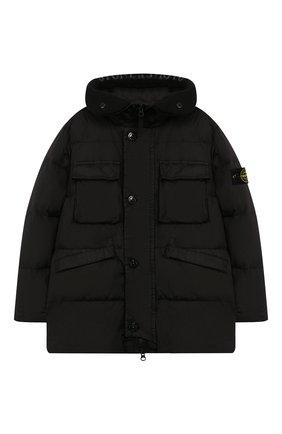 Пуховая куртка с капюшоном   Фото №1