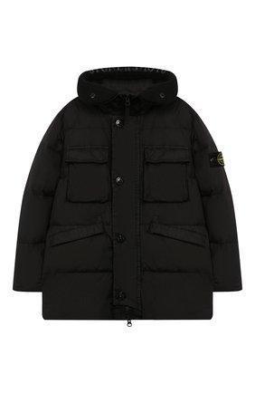 Пуховая куртка с капюшоном | Фото №1