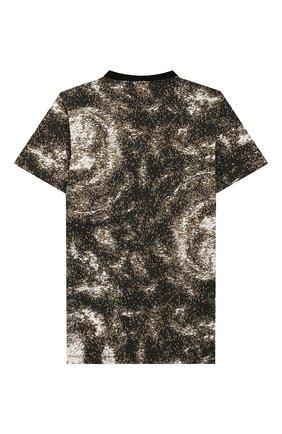 Детская хлопковая футболка STONE ISLAND хаки цвета, арт. 711622058/14 | Фото 2