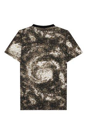 Детская хлопковая футболка STONE ISLAND хаки цвета, арт. 711622058/10-12 | Фото 2