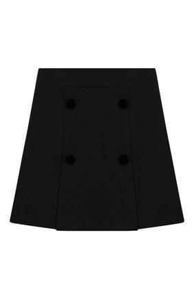 Детская юбка DAL LAGO черного цвета, арт. R378/8111/7-12 | Фото 1