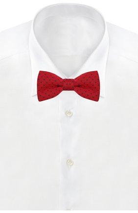 Детский галстук-бабочка из хлопка и шелка DAL LAGO красного цвета, арт. N301/7820/III | Фото 2